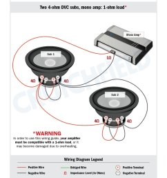 in your case the 4 ohm wiring scheme is the only safe way to subwoofer wiring diagrams  [ 1275 x 1650 Pixel ]