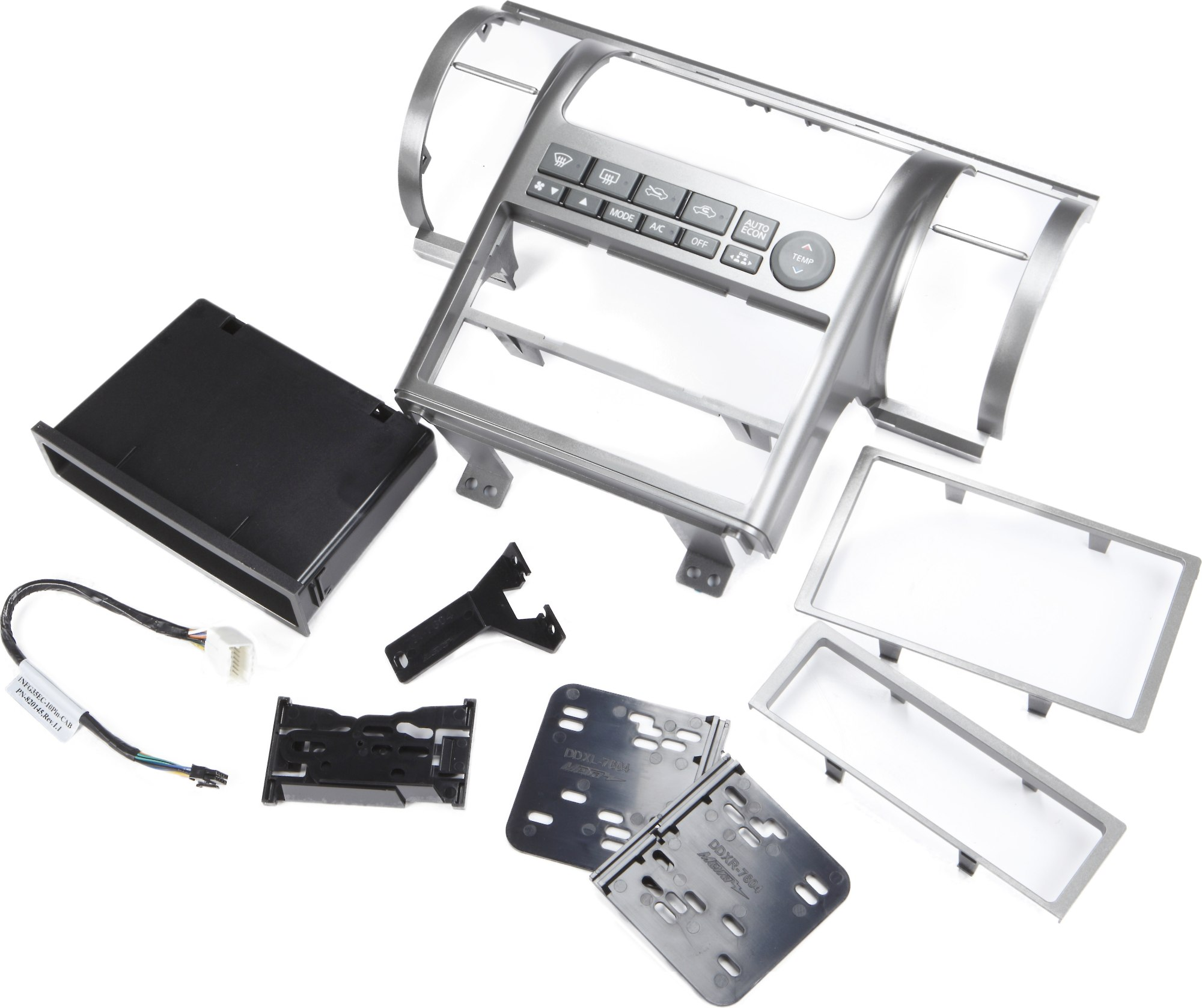 hight resolution of metra 99 7604 dash kit gray install a new single din or double din car stereo in your 2003 04 infiniti g35 at crutchfield canada
