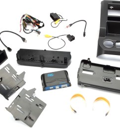pac rpk4 fd2201 dash and wiring kit metallic black install and connect a single or double din car stereo and retain climate controls and other features  [ 7994 x 5217 Pixel ]