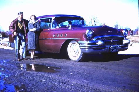 My parents with their 1955 Buick Roadmaster