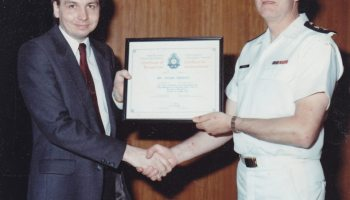 Foto of Klaus J Gerken and Admiral Martin in September 1988