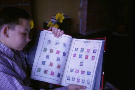 1962. Me and my stamp album.