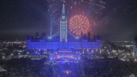 Canada Day 2018 fireworks. Ottawa, Ontario.