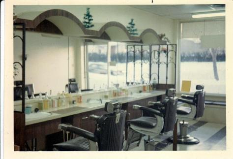 My father's barber shop on Kilbourne Avenue in the 1970's - Ottawa