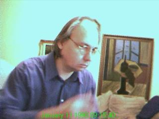 The earliest photo of me editing Ygdrasil that I have (January 1998 -- 20 years ago) - Klaus J Gerken