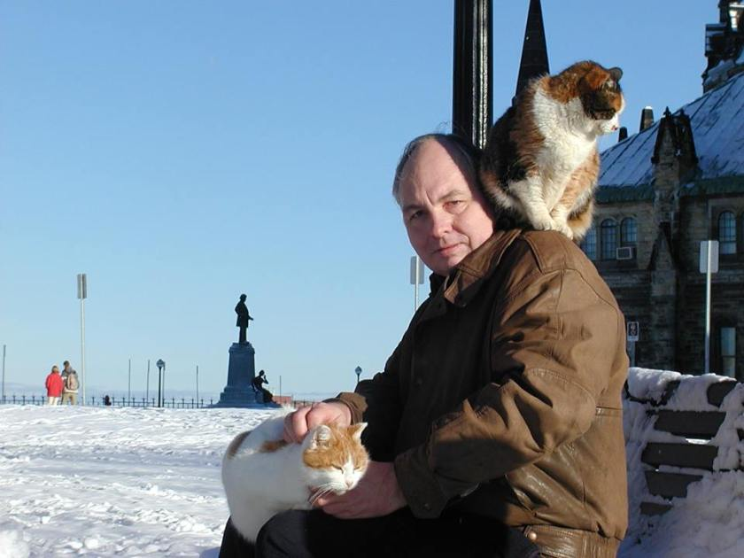 When I was still helping care for the Cat colony on Parliament Hill - (2003)