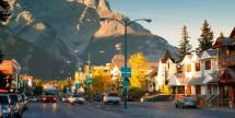 Banff Town Alberta Canada