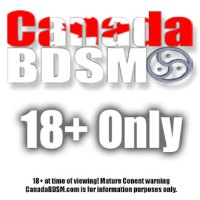 CanadaBDSM.com 18+ Warning label