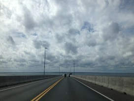 Driving back over the Confederation Bridge