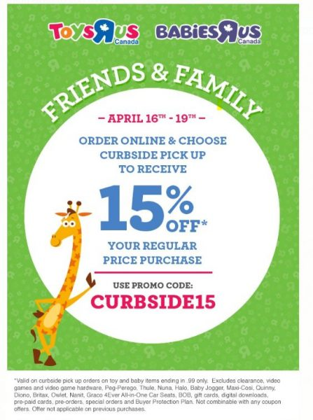 Online Babies R Us Coupon Codes 20 Off : online, babies, coupon, codes, Friends, Family, Regular, Priced, Purchase, Promotional, 16-19), Toronto, Deals
