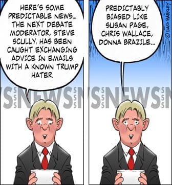 Next Debate Moderator, Steve Scully, Typically Biased Like; Susan Page, Chris Wallace, Donna Brazile