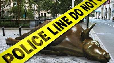 Financed crime scene