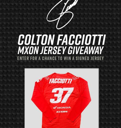 Colton Facciotti Autographed Jersey Giveaway