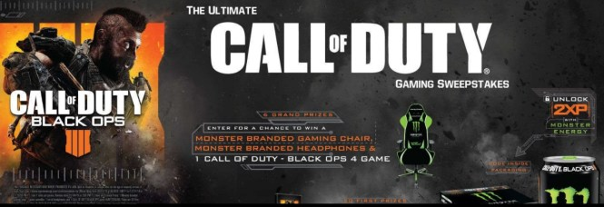 Monster Energy Ultimate Call Of Duty Gaming Sweepstakes