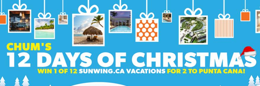 CHUM's 12 Days of Christmas Contest – Win Grand Prize