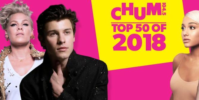 CHUM 104.5 Top 50 Songs of 2018 contest