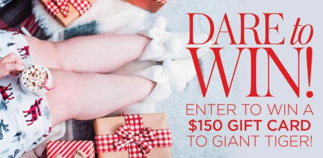 DARE Magazine $150 Gift Card to Giant Tiger Contest