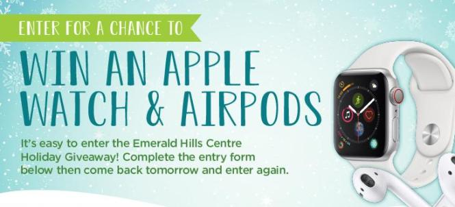 Emerald Hills Centre Apple Watch & Airpods Giveaway