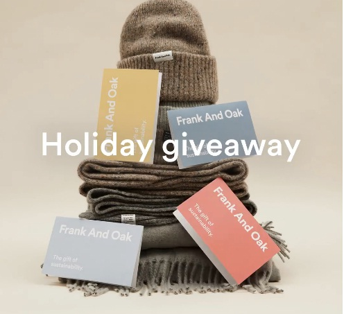 Frank And Oak Holiday Giveaway