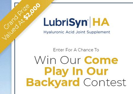 LubriSynHA Come Play In Our Backyard Contest