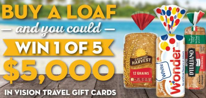 The Buy A Loaf Travel Sweepstakes Contest