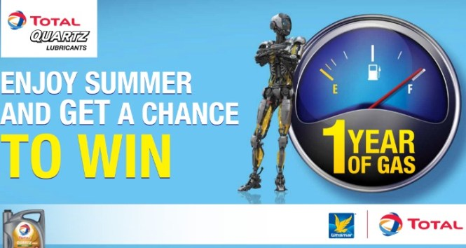 Total Ultramar Win Fuel For A Year Contest