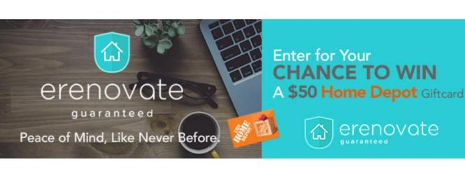 Home Giveaway 2020.The Erenovate Guarantee Giveaway Win 50 Home Depot Canada