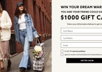 Groupe Dynamite Inc $1000 Free Gift Card Giveaway