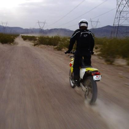 ... sandy roads not so much so. Photo: RH