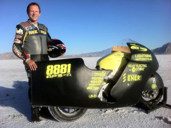 Lightning sets new electric motorcycle speed record – again