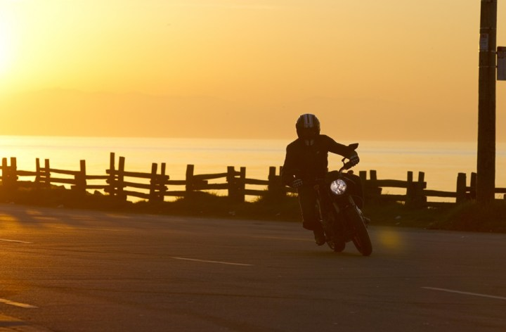 After coast-to-coast trip on electric motorcycle, rider plans new adventures