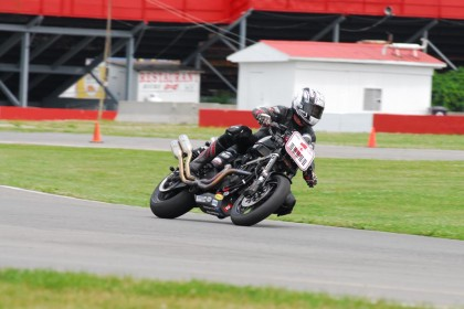 Steve Crevier and the other CSBK XR1200 racers will likely be looking for a new series next year, with news that Deeley's dropped their sponsorship of the series.