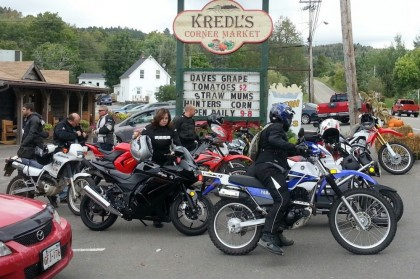 Lunch stop, on last year's D2D. That's a lot of 250s, but we're hoping for more this year! Photo: Ron Kierstead