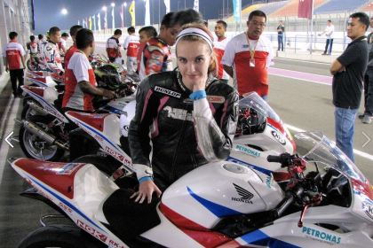 Last year, she made it all the way to Qatar; this year, Stacey Nesbitt is running in RACE and VRRA events. Photo: Statoni Racing/Facebook