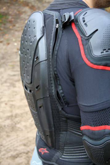 Note the zipper attaching the back protector to the Bionic jacket. It had a habit of coming undone. Photo: Rob Harris