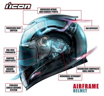 The Airframe boasts some pretty good airflow. Photo: Icon