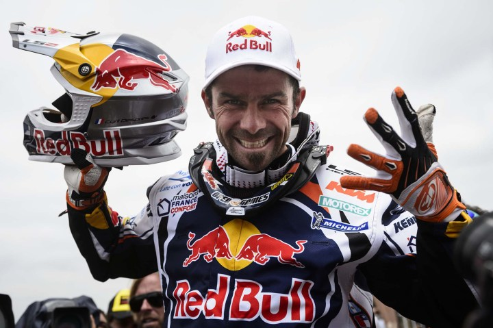 Despres celebrates his fifth Dakar win