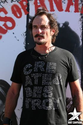 Kim Coates's volunteer work includes the Boot campaign.