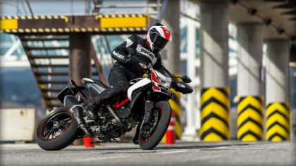 ABS will cut down on this sort of action, but it is a big aid for riders who are a bit ham-fisted on the brakes. Photo: Ducati