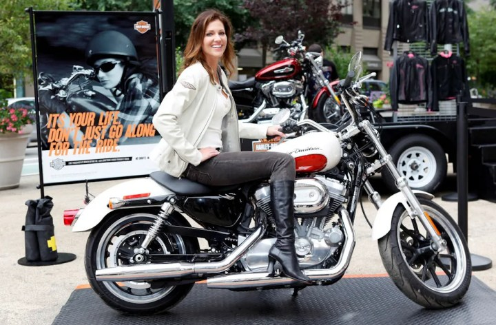 Tricia Helfer: Actress, model, motorcycle rider