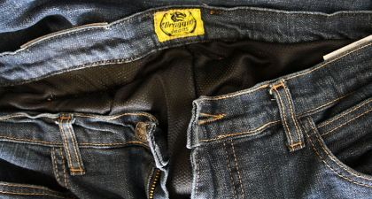 The Next Gen jeans have a Coolmax liner, but can still get toasty on a summer day. Photo: Zac Kurylyk