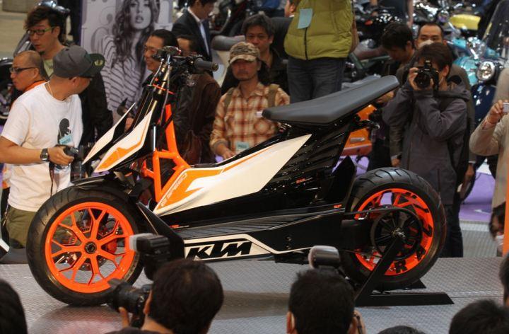 KTM unveils electric concept scooter