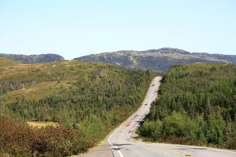 The Bay D'Espoir highway wasn't kind to the Ortliebs, but take a look at that rough pavement - you can't blame the bags.