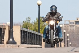 Yamaha is hoping the Bolt will compete directly with Harley-Davidson's entry-level 883 Sportster for sales. Photo: Bill Petro