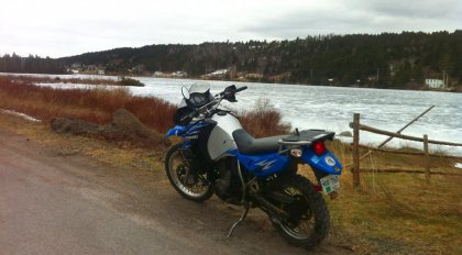 The heated gear let Tammy extend her riding season comfortably. Photo: Tammy Perry