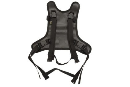 Wolfman's Rolie bags strap into this harness; the harness, in turn, straps to your motorcycle.