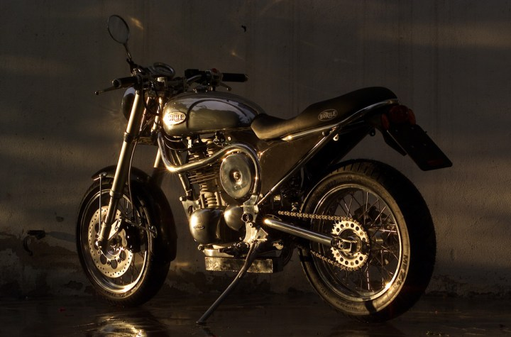Borile's specialty is handmade motorcycles. Photo: Borile