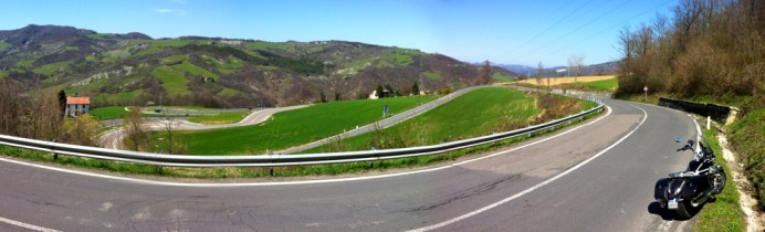 So much of Italy is mountainous and with it comes the twisties. Although the California may not have been the ideal ride for such things, it coped remarkably well.
