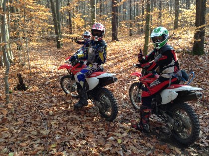 While training takes place in the safety of an open field. Trail Tours makes sure their customers have plenty of fun riding in the woods. Photo: Facebook