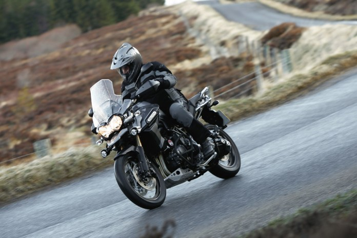 Cold and wet in Scotland? Surely not. Costa makes good use of the higher screen and heated grips.